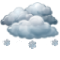 Overcast with periods of snow